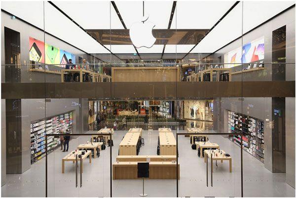 Exemplo de Vitrine de loja - Apple